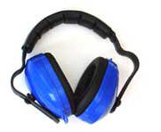 Regular ear defenders, widely available in DIY outlets.